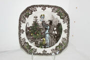 Johnson Brothers Friendly Village Christmas Decorate The Tree Square Salad Plate