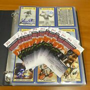 340 Plus Different Signed Notre Dame Football Cards 26 Cards With Jsa Coa