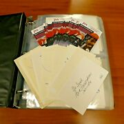 Over 450 Different Notre Dame Football 3x5 Autographs 40 Cards With Jsa Coa