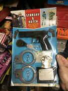 70s Starsky And Hutch Deluxe Police Detective Set Nos Moc Baretta Cuffs Toy Badge