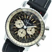 Sinn 903 St Gl 24 Navigation Chronograph Automatic Steel Leather Strap Menand039s