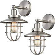 Wildsoul 40021sn-2 Vintage Classic Edison Wall Sconce Led Compatible Industrial