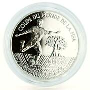African States 1000 Francs Football World Cup In Germany Player Silver Coin 2004