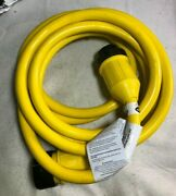 Conntek 50 Amp 125v Marine Shore Power 3 Wire Extension Cord Threaded Ring 25 Ft
