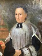 18th Century Oil Painting Portrait French Man Of The Law Rigaud