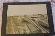 1900s Orig Cabinet Photo Coney Island Ny Steeplechase Automobile Rollercoaster