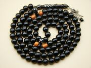 Old Real Antique Rare Black Coral Yusr Subha Necklace Rosary Prayer Beads 74 Gr