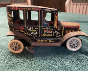 Antique Marx Toys Old Jalopy Tin Windup Made In United States Of America