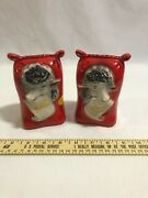 Regal China Old Mcdonalds Farm Salt And Pepper Feed Sack Shakers 384