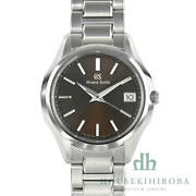 Used Seiko Watch Menand039s Heritage Quartz Sbgv237 Dial Brown Date Day Mens
