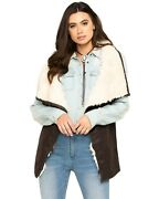 Cripple Creek Womenand039s Pine Cone Faux Shearling Wrap Vest - Cw8750-21