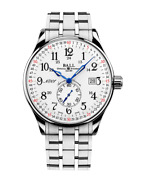 Authorized Dealer Ball Nm3888d-s3cj-wh Trainmaster Railroad 130 Years 40mm Watch