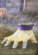 New Huge Blowmold Zombie Giant Hand Halloween Addams Family Lighted Display