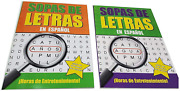 2 Pack - Spanish Word Search Book Jumbo96 Page Each Easy-to-see Full Page Seek