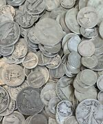 1 Face In Us 90 Silver Coins Walkers Mercury Dimes Franklins And More