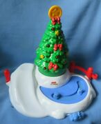 Fisher Price Little People 2004 Christmas Tree Lighting 8 Tree And Skating Rink