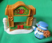 Fisher Price Little People 2004 Christmas Tree Lighting Pretzel Man And Stand Lot