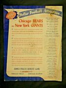 Rare 1949 Chicago Bears Vs Ny Giants Ticket Form For Armed Forces Benefit Game