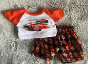 Build-a-bear Disney's'cars' Lightning Mcqueen Pajamas Pjs Teddy Clothes Outfit