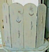 So Shabby Yet Chic Folding Fireplace Screen Gesso Swag Details