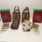 Longaberger Basket Protector Liner Tie On Box 2 Tree Trimming Little Shopper New