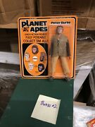 Mego Planet Of The Apes Peter Burke New Old Stock Moc Afa Quality Find Gorgeous