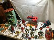 Vintage Masters Of The Universe Vehicle Action Figure And Playset Lot