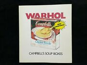 1986 Andy Warhol Signed Autographed Campbelland039s Soup Boxes Catalog Bas Beckett
