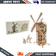 Ugears Tower Windmill Wooden Mechanical 3d Puzzle Diy Kit For Teenagers 14y+