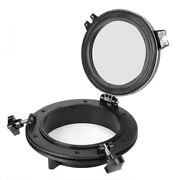 Porthole Replacement Boat Accessory 8in Opening Portlight Black Easy Round Shape