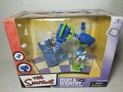 Mcfarlane Toys The Simpsons Itchy And Scratchy Cape Feare Set Action Figure New