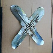 Old Chrome Gm Water Pump 4 Blade Fan Chevy 32 Ford Trog 283 327 Sbc Hot Rod Rat
