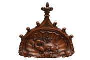 Huge Antique Gothic Architectural Wall Decor Dragon Medieval Walnut 19th Cent