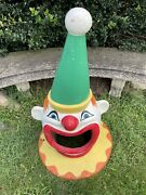 Nice Hard To Find Old Clown Head Can Lid From Old Amusement Park