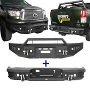Sturdy Steel Front + Rear Bumpers Combo Assembly W/led Light For 07-13 Tundra