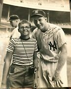 1956 Mickey Mantle Vintage Signed Type 1 Oversized Photo - Triple Crown Mvp Year
