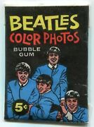1964 The Beatles Color Photos Bubble Gum Vintage Trading Card Wax Pack Topps