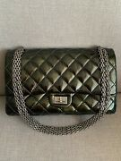 Dark Green 2.55 Reissue Quilted Classic Patent Leather Flap Bag