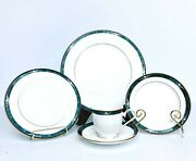 Serve 12 Lenox Kelly Green 5-piece Place Setting, Gorgeous, In Mint Condition