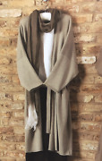 Nwt Eskandar O/s Sage Green Lux Belted Open 48l Cotton Cardigan Sweater Duster