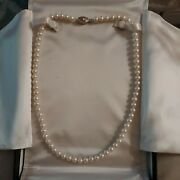 14kt White Gold Fresh Water Cultured Pearl Necklace. Designed By Honora 20 In.