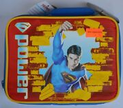 Superman Insulated Vinyl Lunch Box W Tags W Thermos Pencil And Paperwork