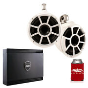 Wet Sounds Rev10w-sc White Rev 10 Swivel Clamp Tower Speakers With Amp