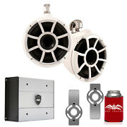 Wet Sounds For Mastercraft 2007 Up Rev10 10 White Swivel Towers Htx4 Amp