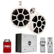 Wet Sounds For Nautique Fc5 Towers Rev10 10 White Swivel Towers And Htx4 Amp