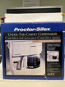 Proctor Silex Under The Cabinet Coffee Maker 10 Cup New Open Box 44401