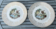 Limoges American China Dand039or Triumph 1t-s284 10 22k Gold Dinner Plates Serenade