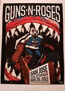 Guns N Roses Authentic 2021 Tour Poster Lithograph San Jose Sharks Only 250 Made