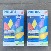 Philips 25 Ct C9 Multicolored Faceted Indoor/outdoor Led Christmas String Lights