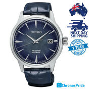 Seiko Presage Starlight Srpc01 Automatic Cocktail Mens Watch Blue Dial